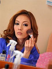 Hot cheating japanese wife sally yoshino putting on some make up.    Hot cheating Japanese wife Sally Yoshino putting on some make up Read more!