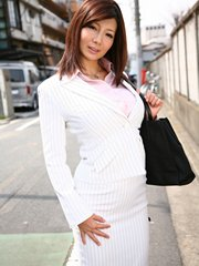 Brunette hot business woman sayuri mikami enjoys in showing her figure.    Brunette hot business woman Sayuri Mikami enjoys in showing her figure Read more!
