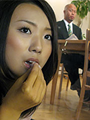 Yui asao shamelessly suc her hubby where their guest can see them. Yui Asao shamelessly blowjob her hubby where their guest can see them. Read more!