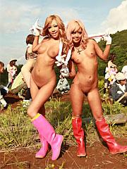 Super hot asian farmer girls raina ogami and rara show their boobies.    Super hot Asian farmer girls Raina Ogami and Rara show their boobies  Read more!