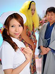 Nasty nurse rino asuka shows up on a tv show and teases in her uniform.    Nasty nurse Rino Asuka shows up on a tv show and teases in her uniform Read more!