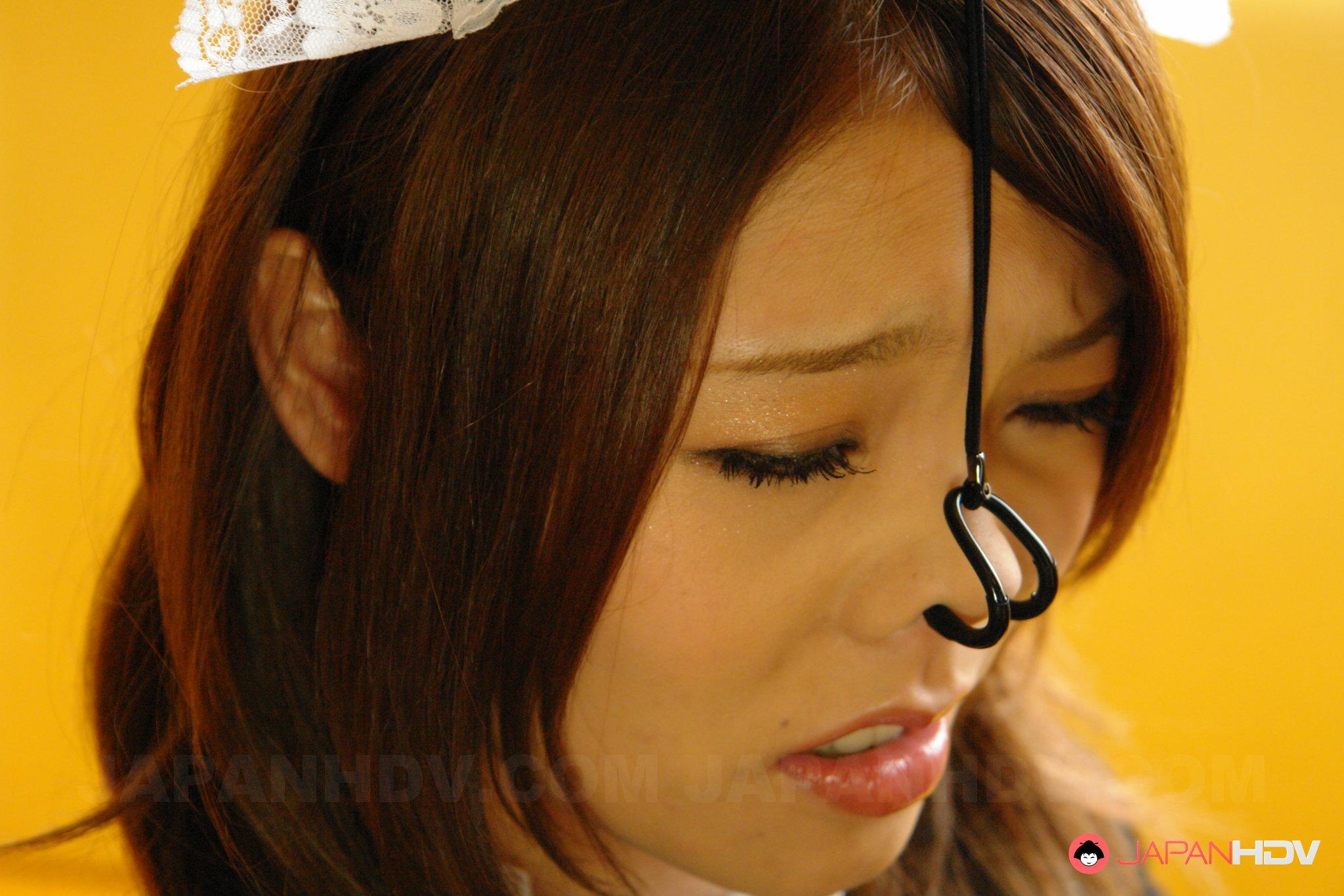 Japanese Nose Hooks Asian Teens Nose Torture