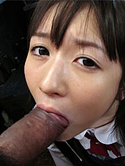 Ai Uehara gets cum in her mouth