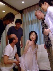 Nice teen girl aoba itou serves as a sex toy in a group sex session. Pretty teen girl Aoba Itou serves as a sex toy in a group sex session Read more!
