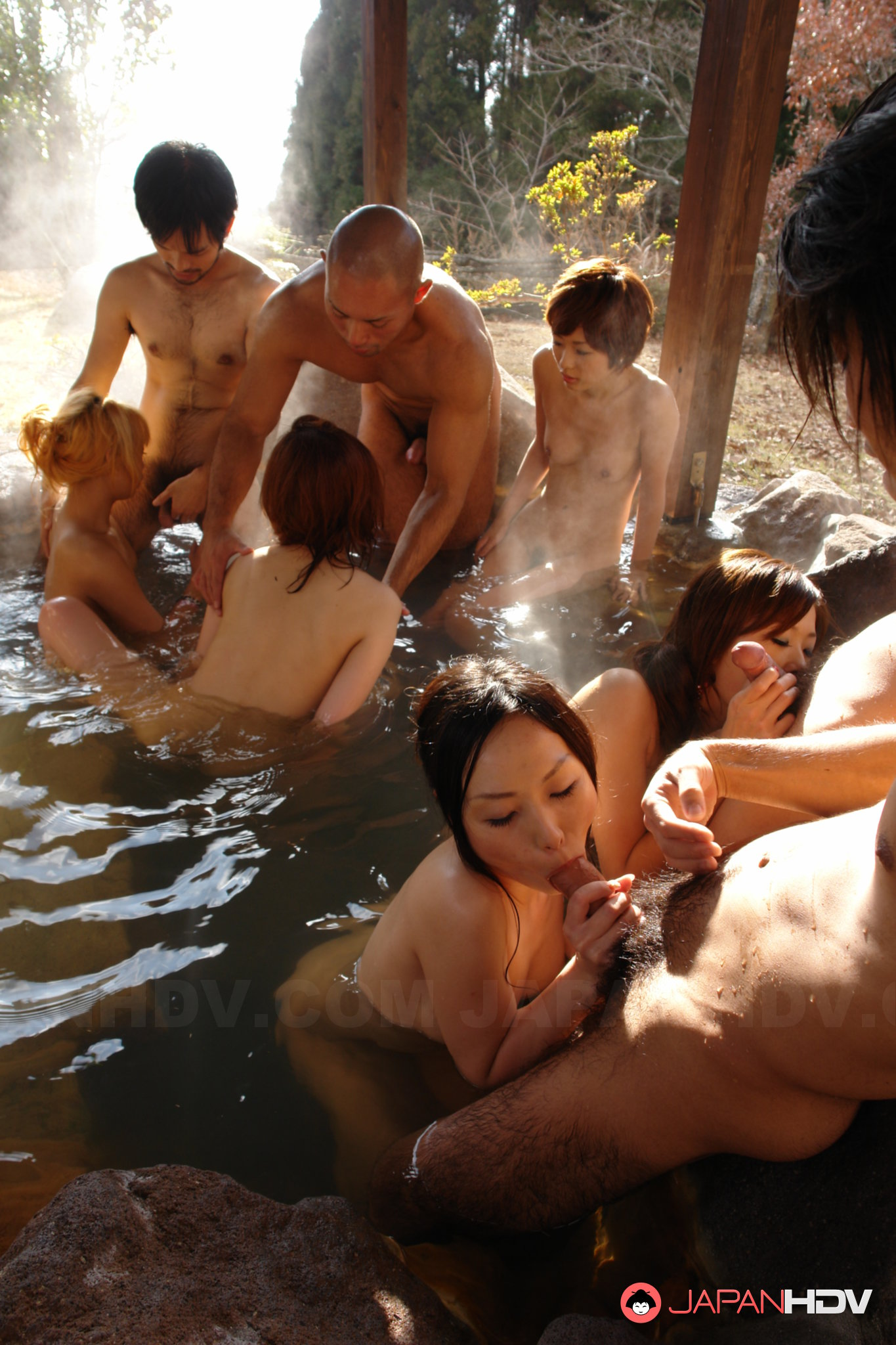 Uncensored japanese orgy with 6 hot asian girls - 4 7