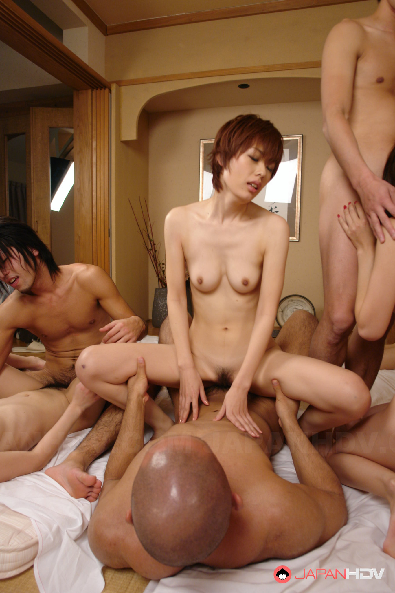 Uncensored pale japanese av star airi minami in bungalow