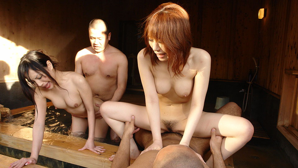 Secluded hot spring Asian orgy
