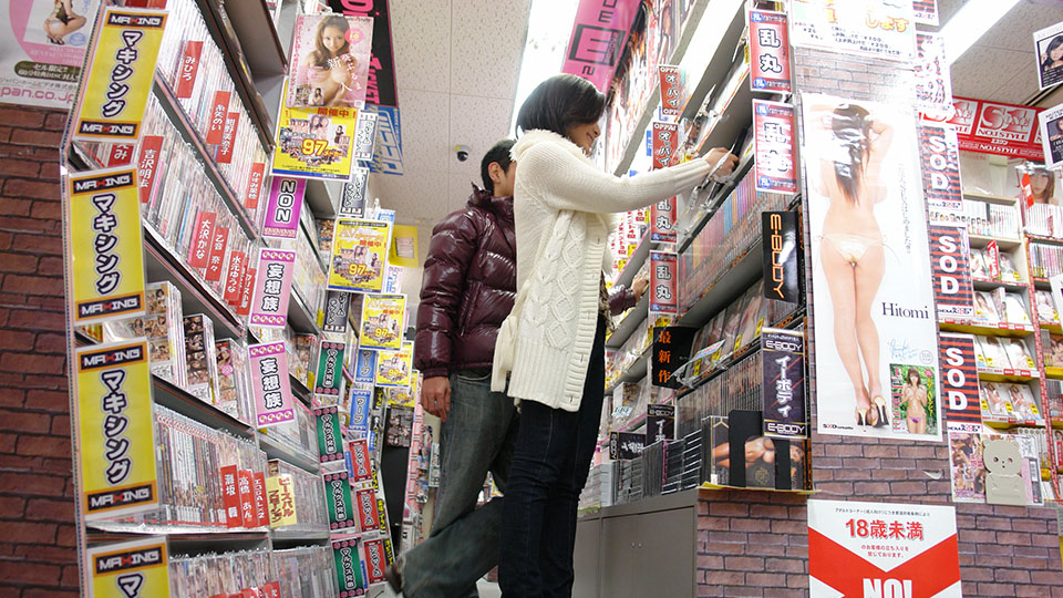 Excited japanese hottie ryo eats her lover s penish in a sex shop. Lascivious Japanese hottie Ryo eats her lover's dick in a sex shop Read more!