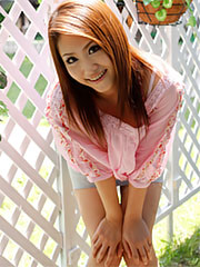 Nice and innocent looking iori mizuki gets a photo shoot in garden. Good and innocent looking Iori Mizuki gets a photo shoot in garden Read more!