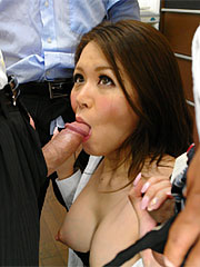 Long hairy darling china mimura gets rammed massive by two coworkers. Long haired darling China Mimura gets rammed rough by two co-workers Read more!