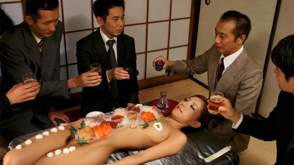 Lascivious dudes eat sushi off of ramu nagatsuki s tender smooth body. Lascivious dudes eat sushi off of Ramu Nagatsuki's tender smooth body. Read more!