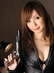 Impressive police officer yui igawa wears a charming leather outfit. Impressive police officer Yui Igawa wears a lovely leather outfit Read more!