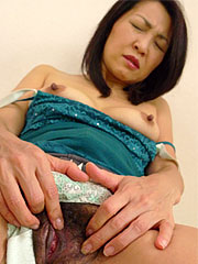 Elegant japanese mature slut teasing her hairy cunt with delight. Stunning Japanese mature slut teasing her hairy vagina with delight Read more!
