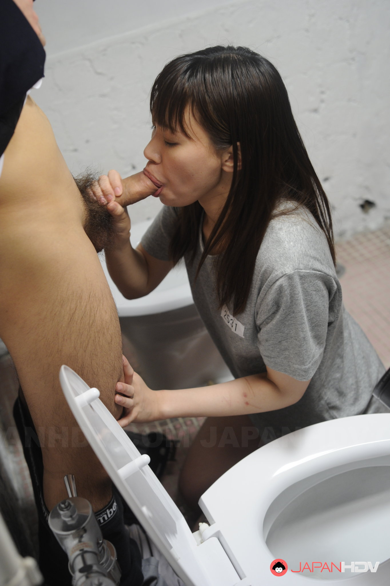 Horny Asian darling gobbling a big flesh pole adult gallery Japan HDV