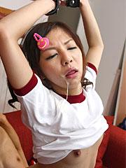 Tied japanese schoolgirl hikaru aoyama sucking a big meat pole with joy. Tied Japanese schoolgirl Hikaru Aoyama sucks a large meat pole with joy Read more!