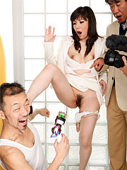Mizuki hayama has her legs spread wide and then fucks strangers.    Mizuki Hayama has her legs spread wide and then fucks strangers. Read more!