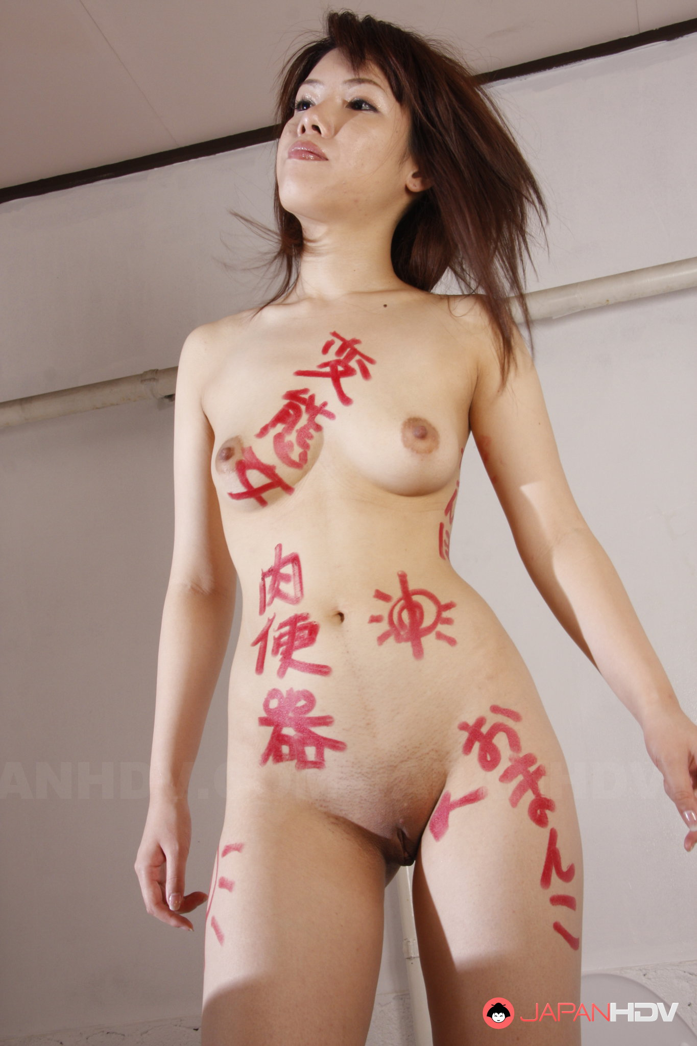 Turns! Japanese lady in naked obviously