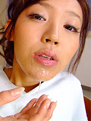 Charming gal nagisa gets a charming facials after a nasty sex toy session. Nice gal Nagisa gets a pleasant facials after a nasty sex toy session Read more!